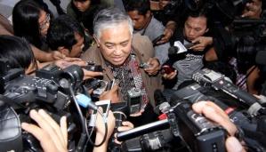 Anggota dari Gerakan Menegakkan Kedaulatan Negara (GMKN) Din Syamsuddin. TEMPO