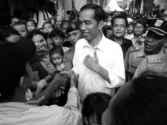 Famous for his 'blusukan' or unplanned visits, Jakarta's Governor Joko Widodo immerses himself well at the grassroots and village levels. PHOTO: REUTERS