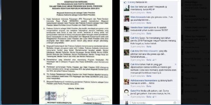 Salinan surat yang disebut Perjanjian Batu Tulis menjadi beredar di media sosial dan menjadi perbincangan