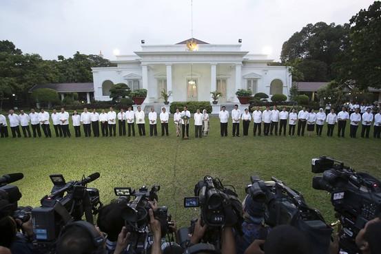 Pengumuman kabinet di Istana Merdeka, Jakarta, 26 Oktober 2014. - WSJ