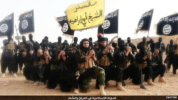 Gambar pejuaang ISIS dari Twiter - BBC