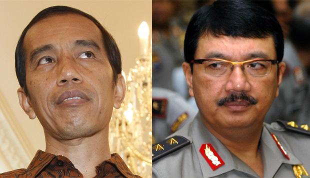 (foto kolase) Presiden Joko Widodo (kiri) dan Komjen Pol Budi Gunawan. – TEMPO