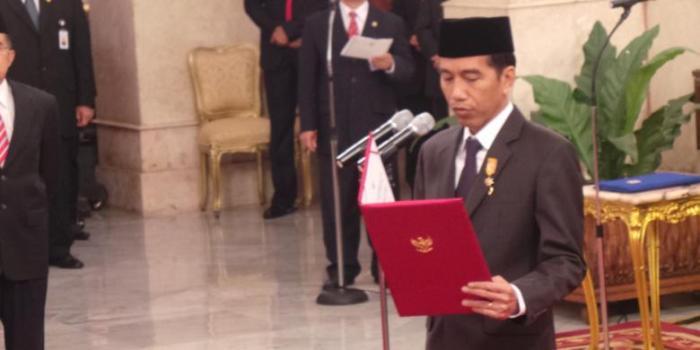 impres di Istana Negara, Jakarta, Senin (19/1/2015). - KOMPAS