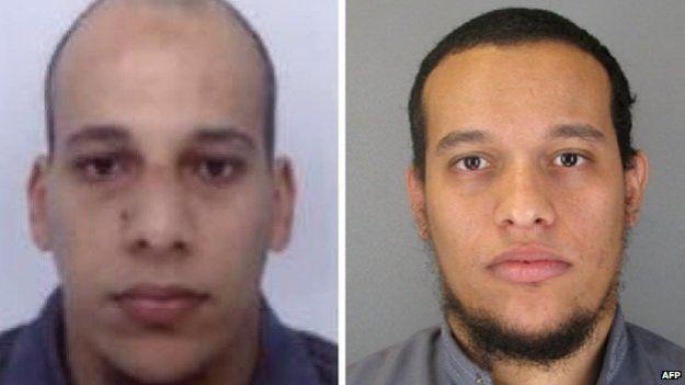 Said dan Cherif Kouachi tersangka pelaku penembakan kantor majalah Charlie Hebdo